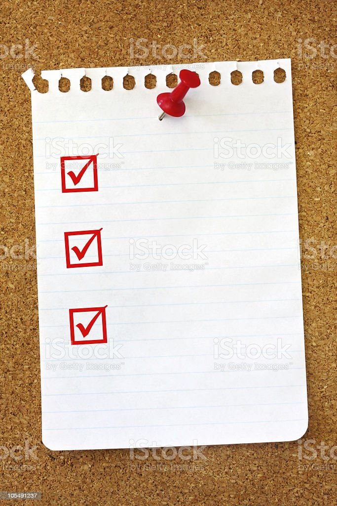 Torn Page on Noticeboard royalty-free stock photo
