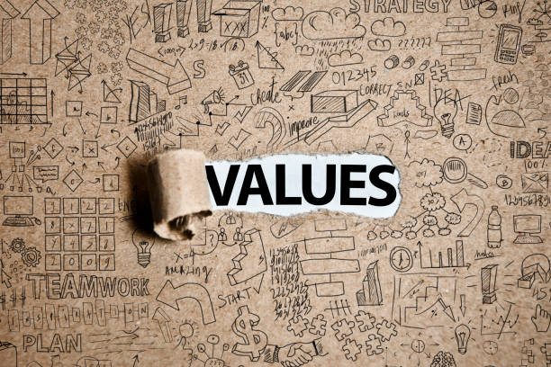 values / torn paper concept (click for more) - transparent stock pictures, royalty-free photos & images