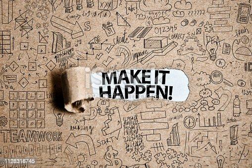 MAKE IT HAPPEN! / Torn Paper Concept (Click for more)