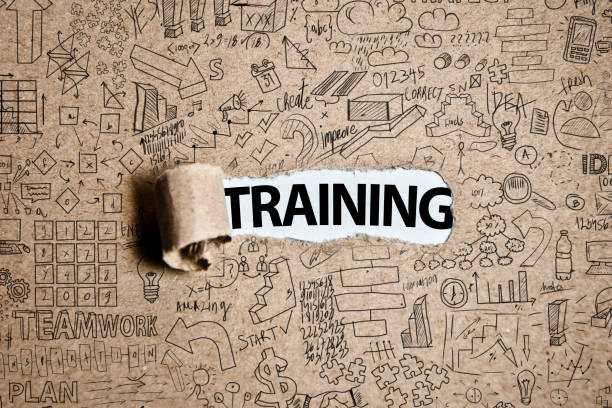 TRAINING / Torn Paper Concept (Click for more) stock photo