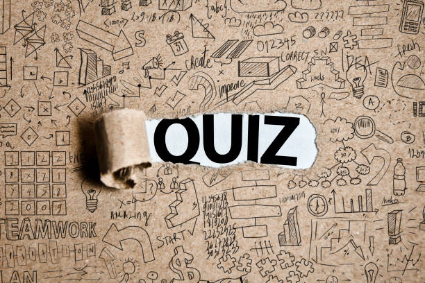 QUIZ / Torn Paper Concept (Click for more) stock photo