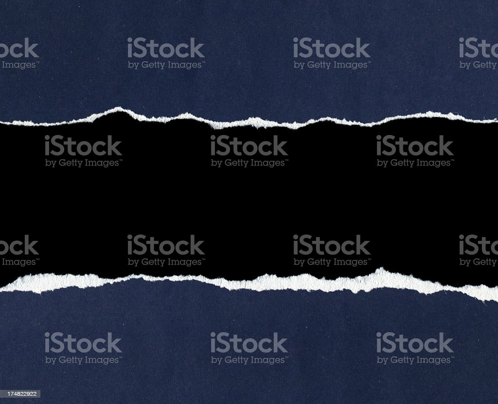 Torn paper frame textured background stock photo