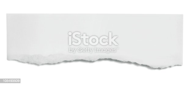 torn paper in the shape of a horizontal banner stock photo