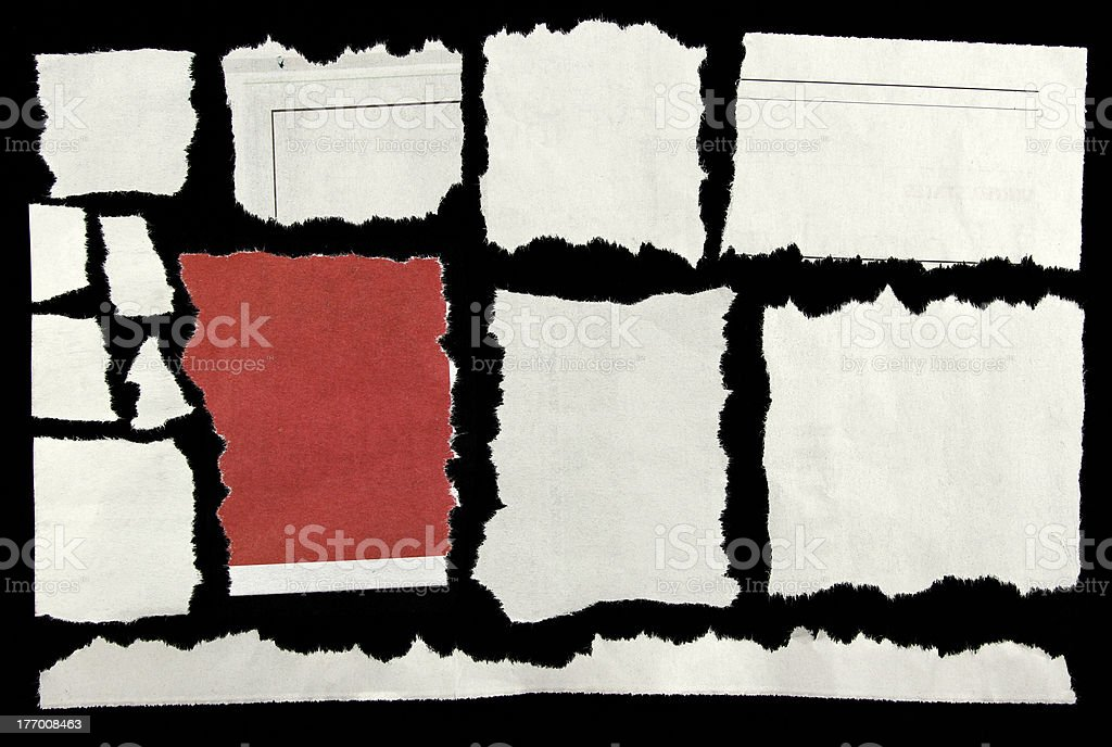 Déchiré papier - Photo de Art libre de droits