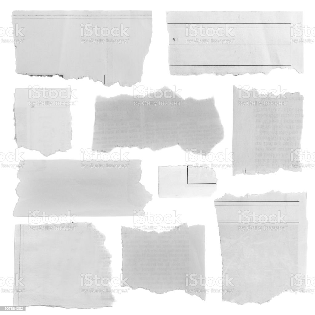 Torn paper pieces stock photo