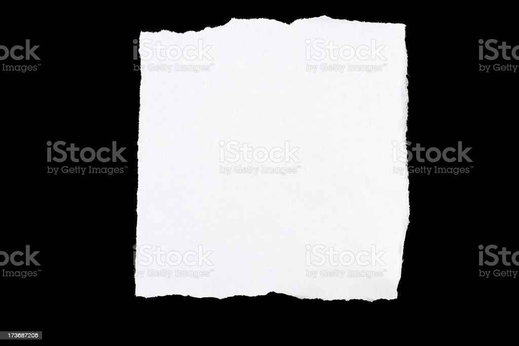 Torn Paper Series: Square royalty-free stock photo