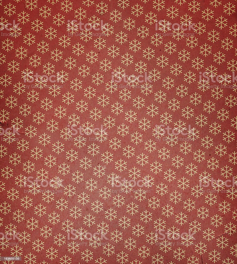 torn paper with snowflake pattern stock photo
