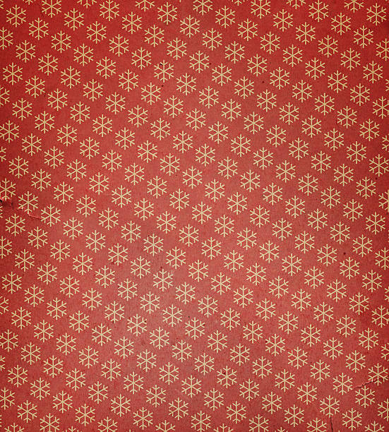 torn paper with snowflake pattern - wrapping paper stock photos and pictures