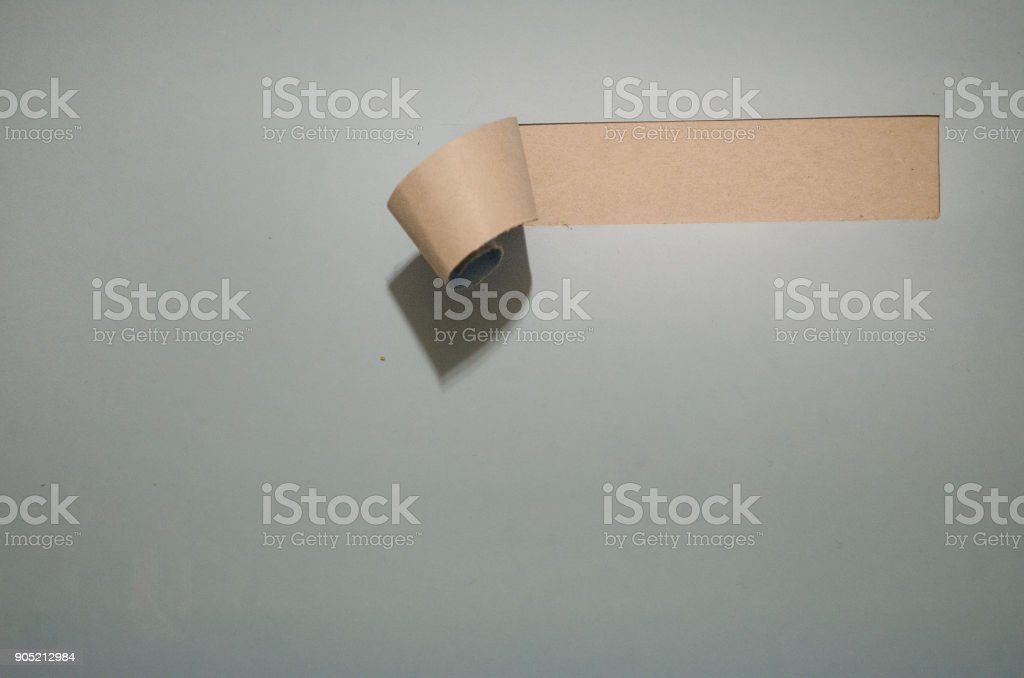 Torn paper with space for your message. Hole in paper empty space....