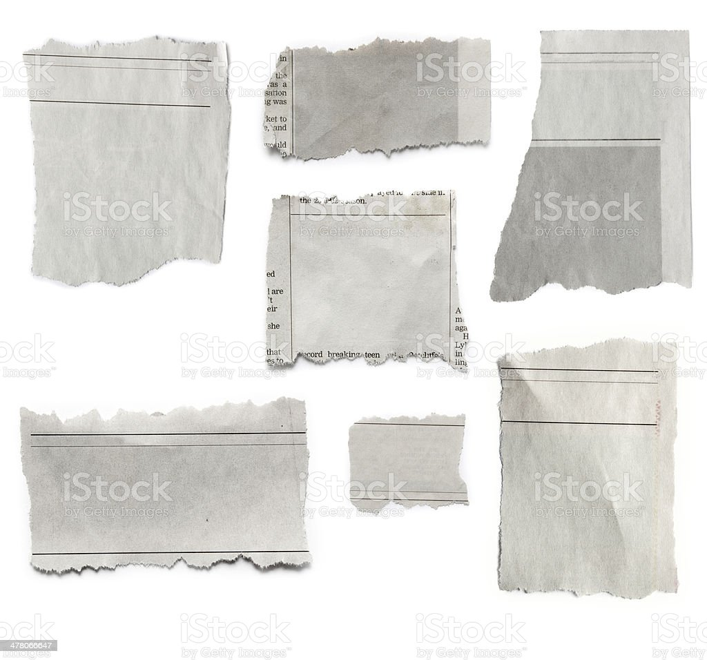 Torn papers stock photo