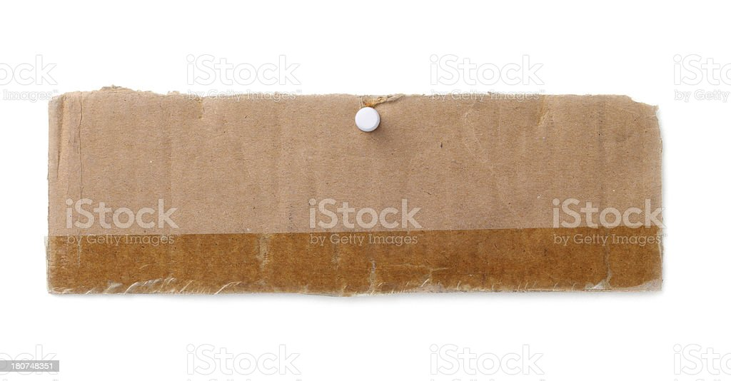 Torn Piece of Cardboard royalty-free stock photo