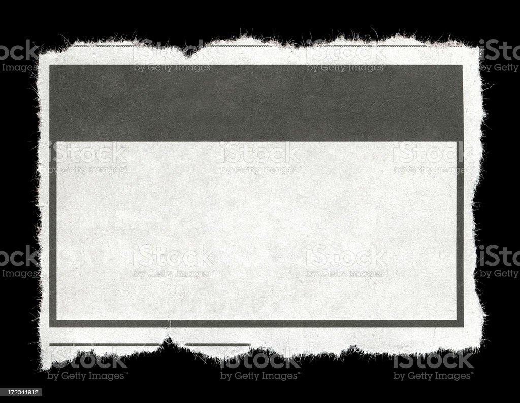 Torn Piece of Newpaper stock photo