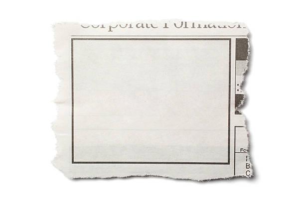 torn アイテムの新聞 - クラシファイド広告 ストックフォトと画像