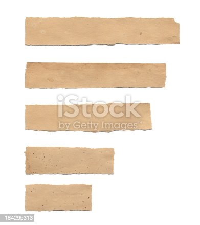 istock Torn Piece of Old Paper (Isolated) 184295313