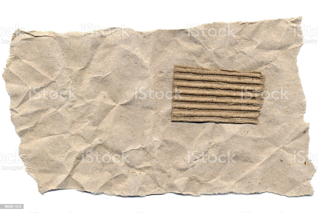 Torn Piece of Old Paper royalty-free stock photo