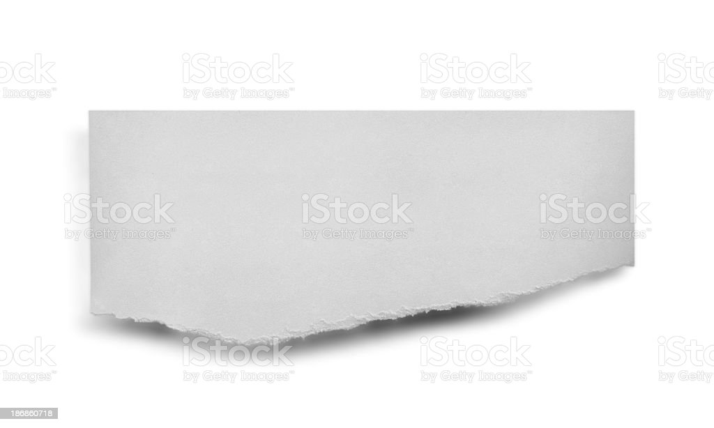 Torn Piece of Paper royalty-free stock photo