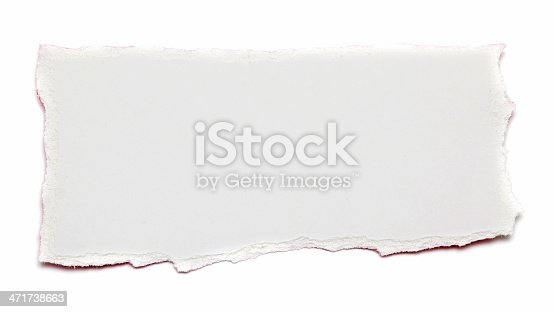 istock Torn Piece of paper textured background 471738663
