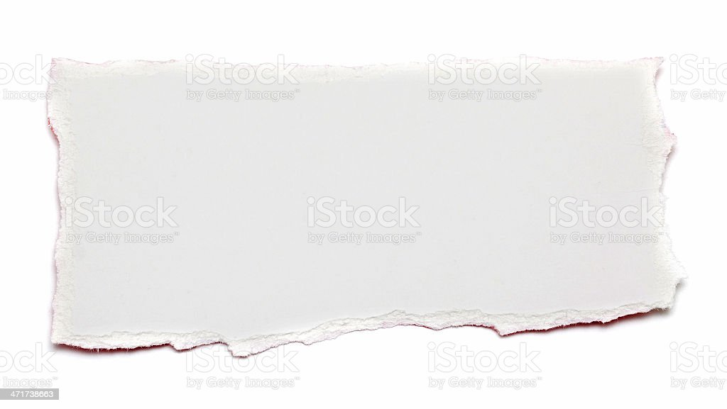 Torn Piece of paper textured background stock photo