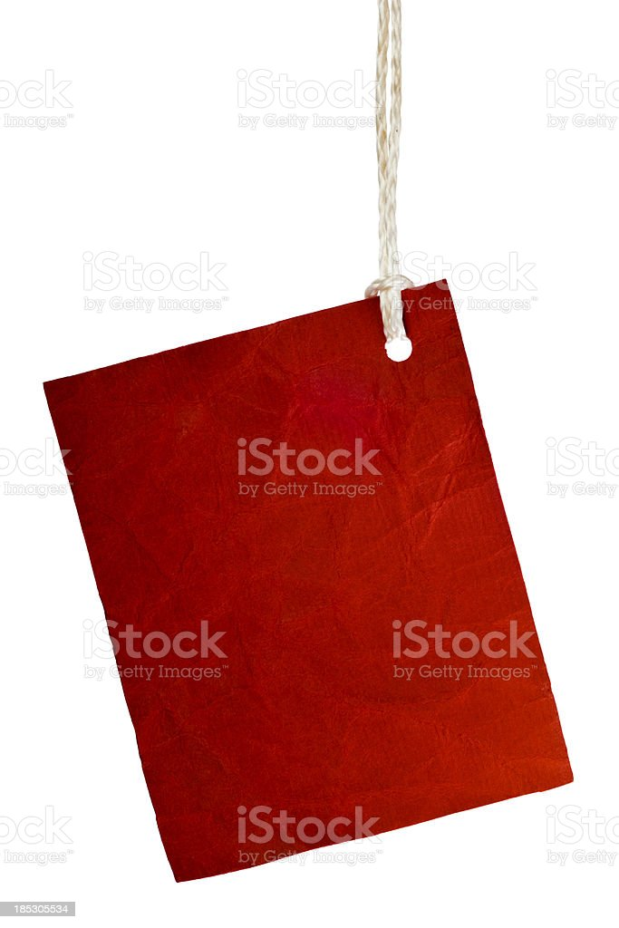 Torn piece of red paper. royalty-free stock photo