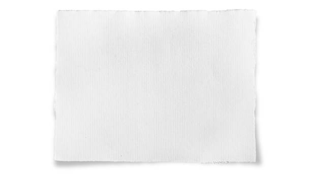 Torn Piece of White Paper stock photo
