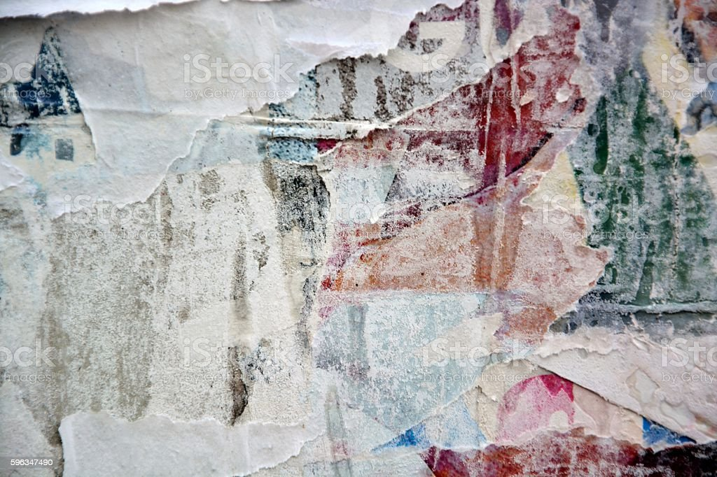 Torn posters royalty-free stock photo