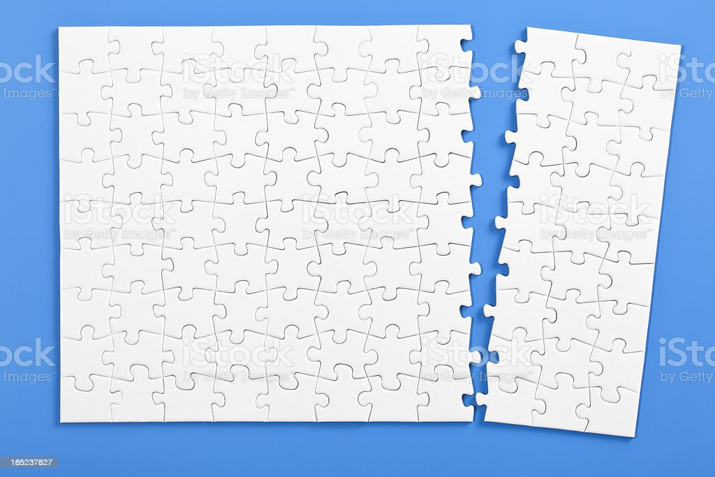 torn puzzle royalty-free stock photo