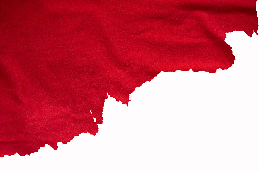 Torn red fabric, detail for designers ideas