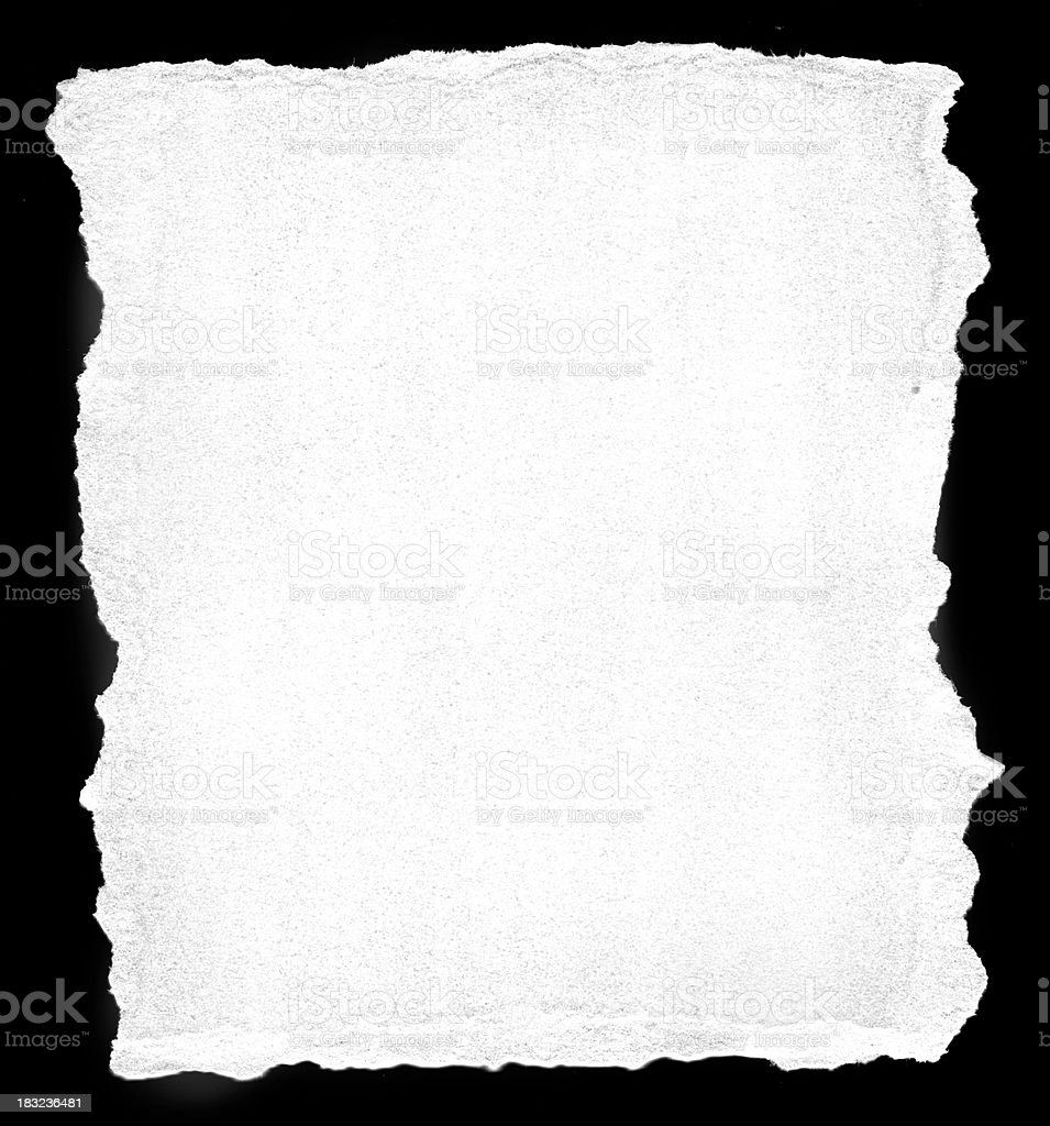 Torn Watercolor Paper Border or Frame stock photo