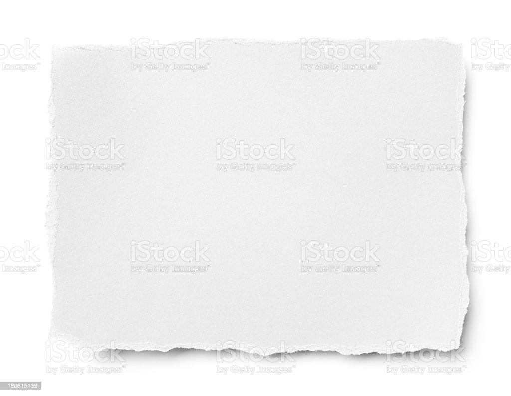 torn white paper stock photo