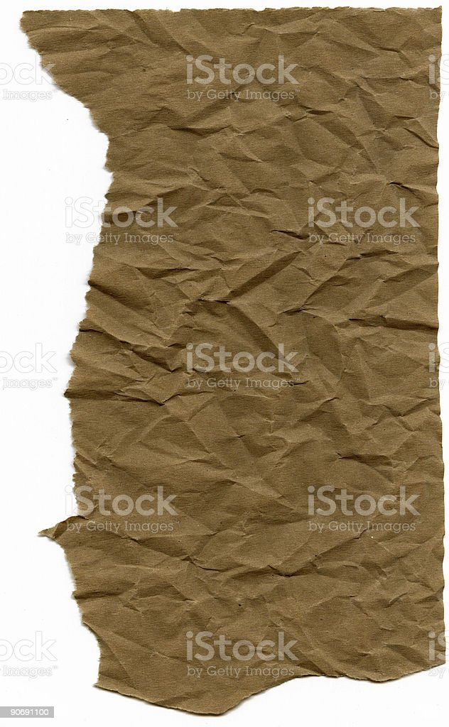 Torn Wrinkled Paper royalty-free stock photo
