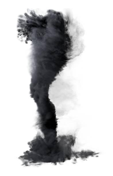 tornado 3d ilustração isolado no fundo branco. - tornado - fotografias e filmes do acervo