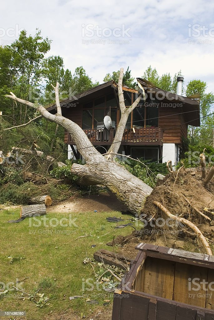Tornado aftermath & destruction forces of nature - I stock photo