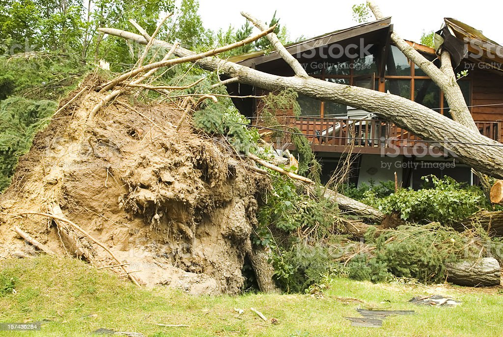 Tornado aftermath & destruction forces of nature - III royalty-free stock photo