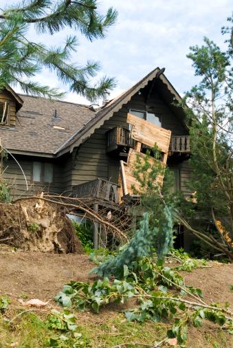 istock Tornado aftermath & destruction forces of nature - V 176069826