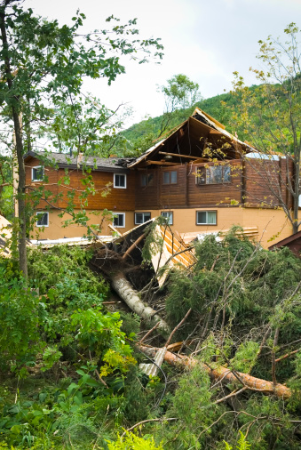 istock Tornado aftermath & destruction forces of nature - X 176060363
