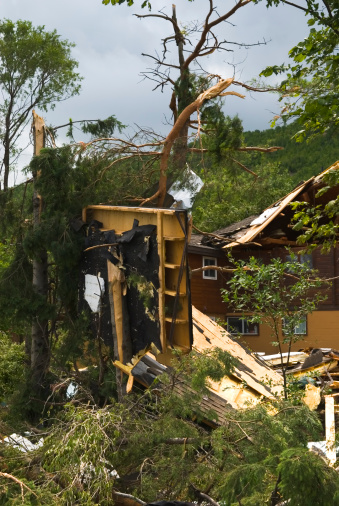 istock Tornado aftermath & destruction forces of nature - XI 176087572