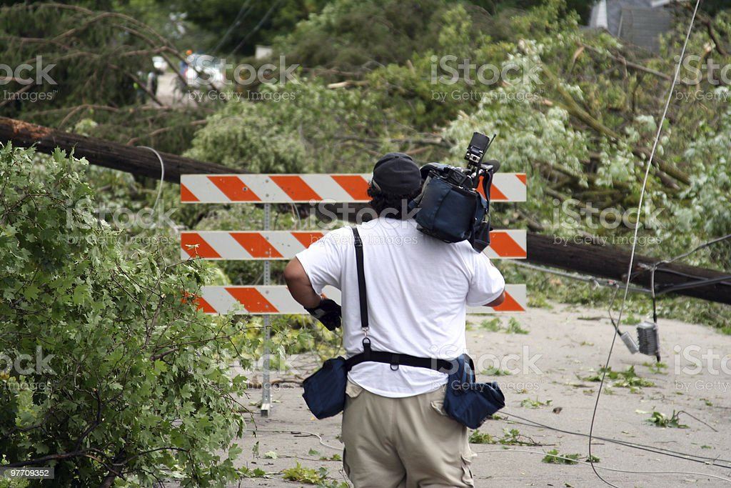 Tornado Aftermath royalty-free stock photo