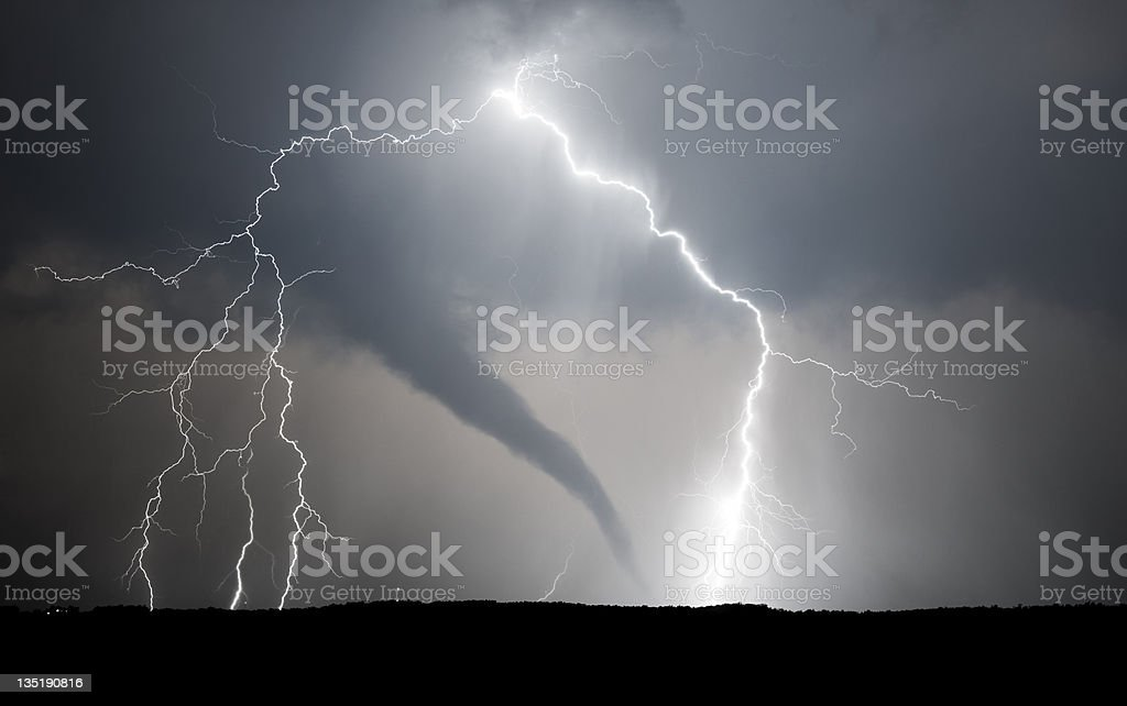 tornado and lightning bolt stock photo more pictures of color
