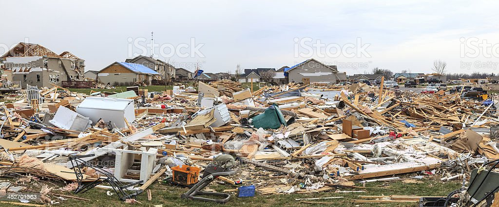 Tornado Damage stock photo