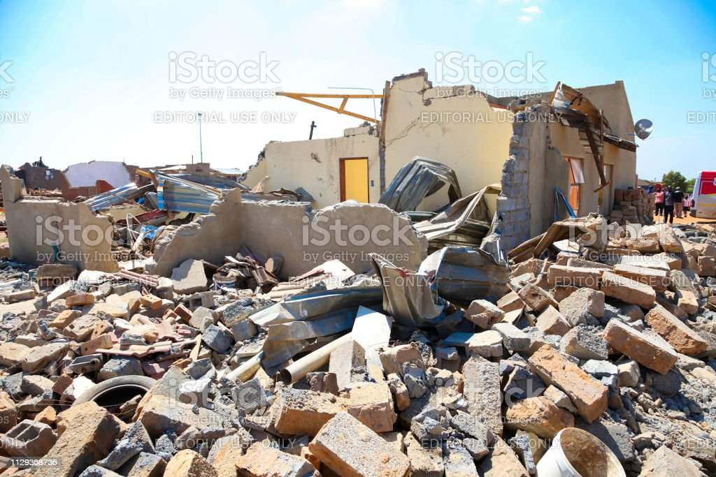 Johannesburg, South Africa - October 04 2011: Bricks and Rubble of...