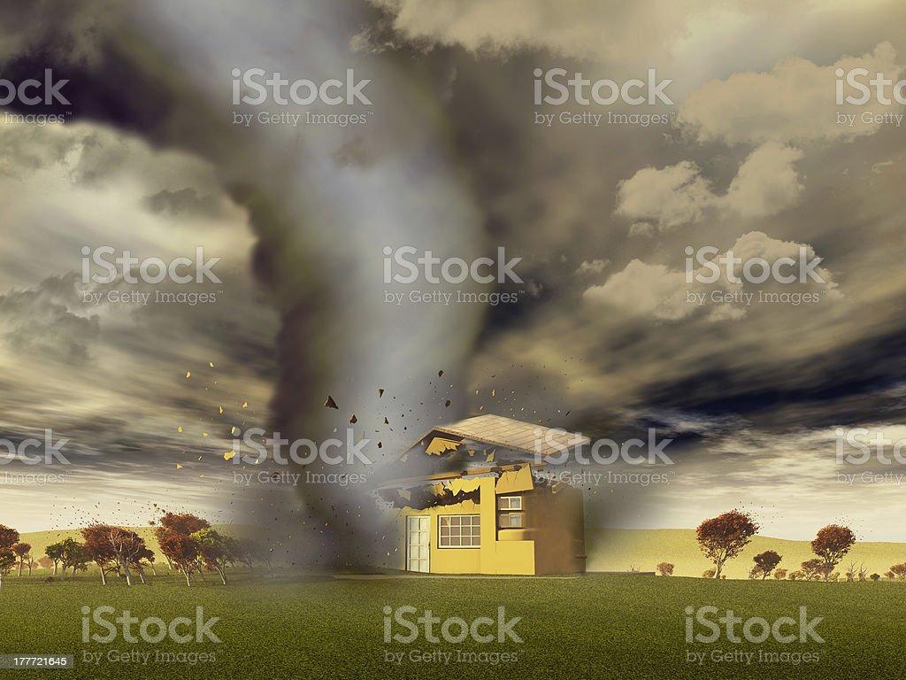 Tornado Culling einer house – Foto