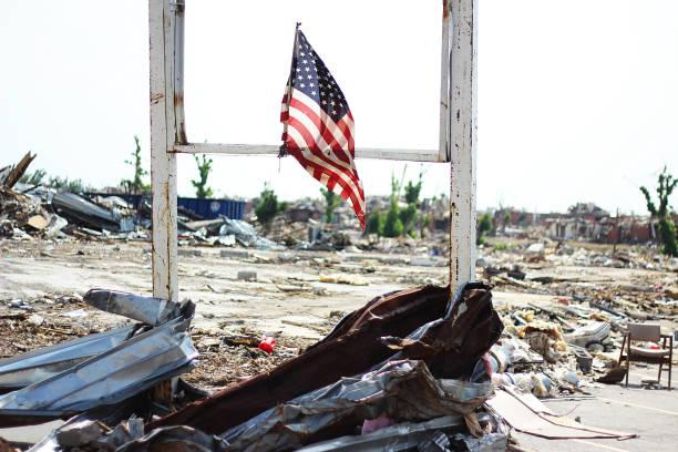 Tornado Destruction 3 stock photo