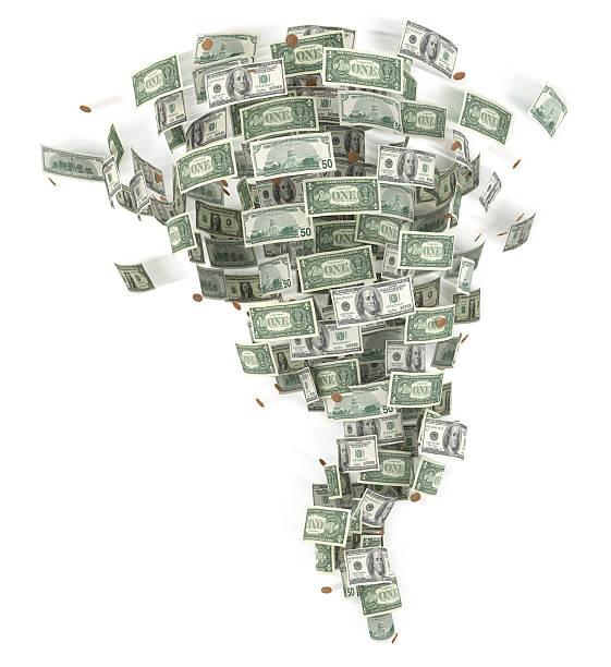Tornado von Geld. – Foto