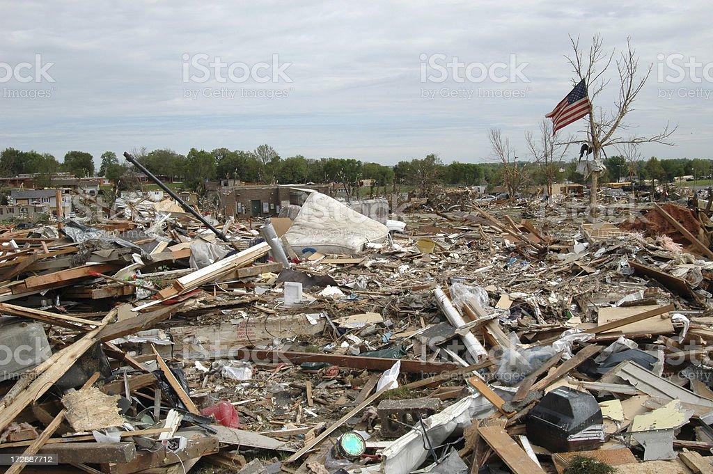 Tornado Landscape stock photo
