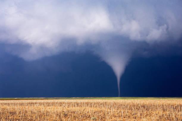 tornado over een gebied - tornado stockfoto's en -beelden