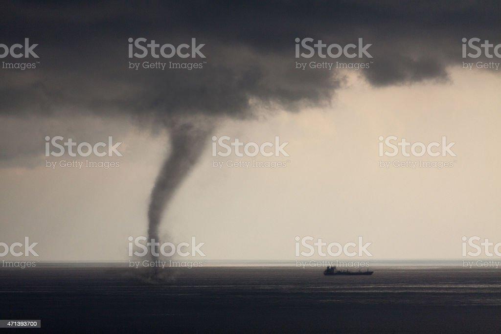 Tornado Sea stock photo