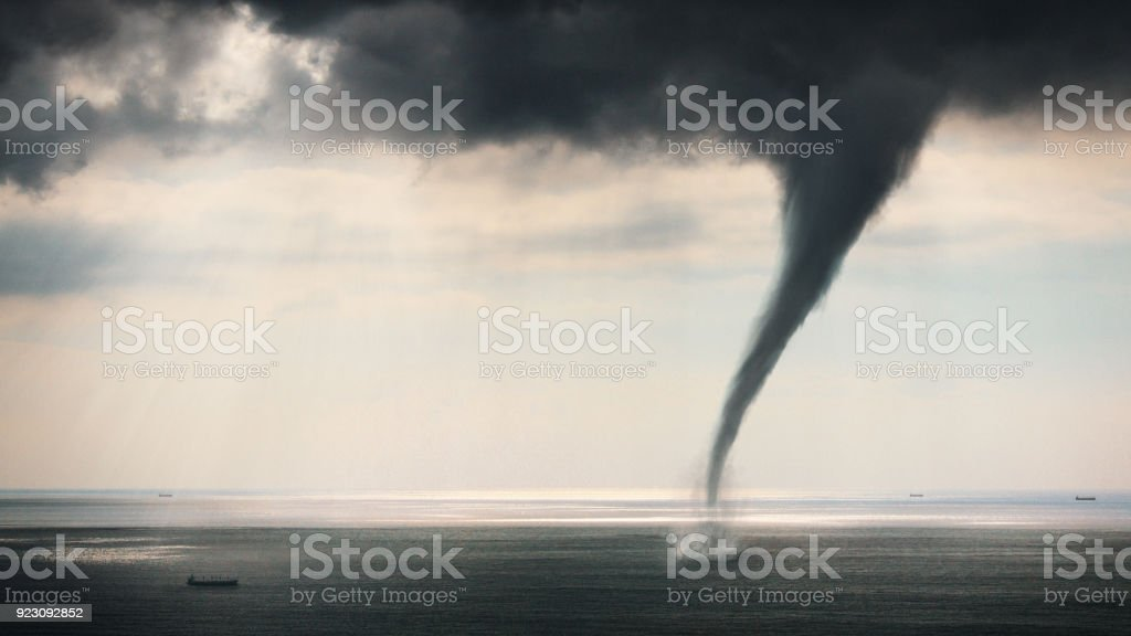 Tornado Sea view stock photo