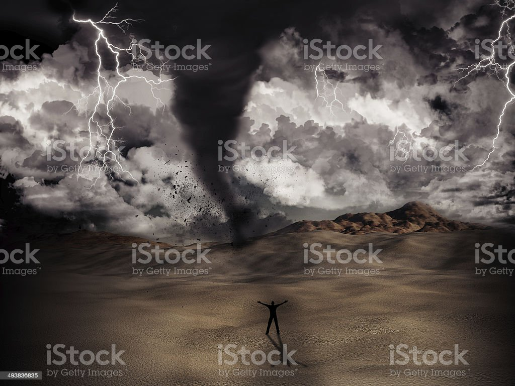 Tornado storm stock photo