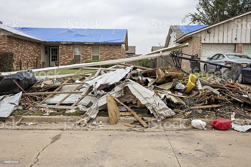 Tornado trash royalty-free stock photo