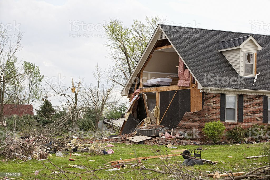 Tornado Victims royalty-free stock photo